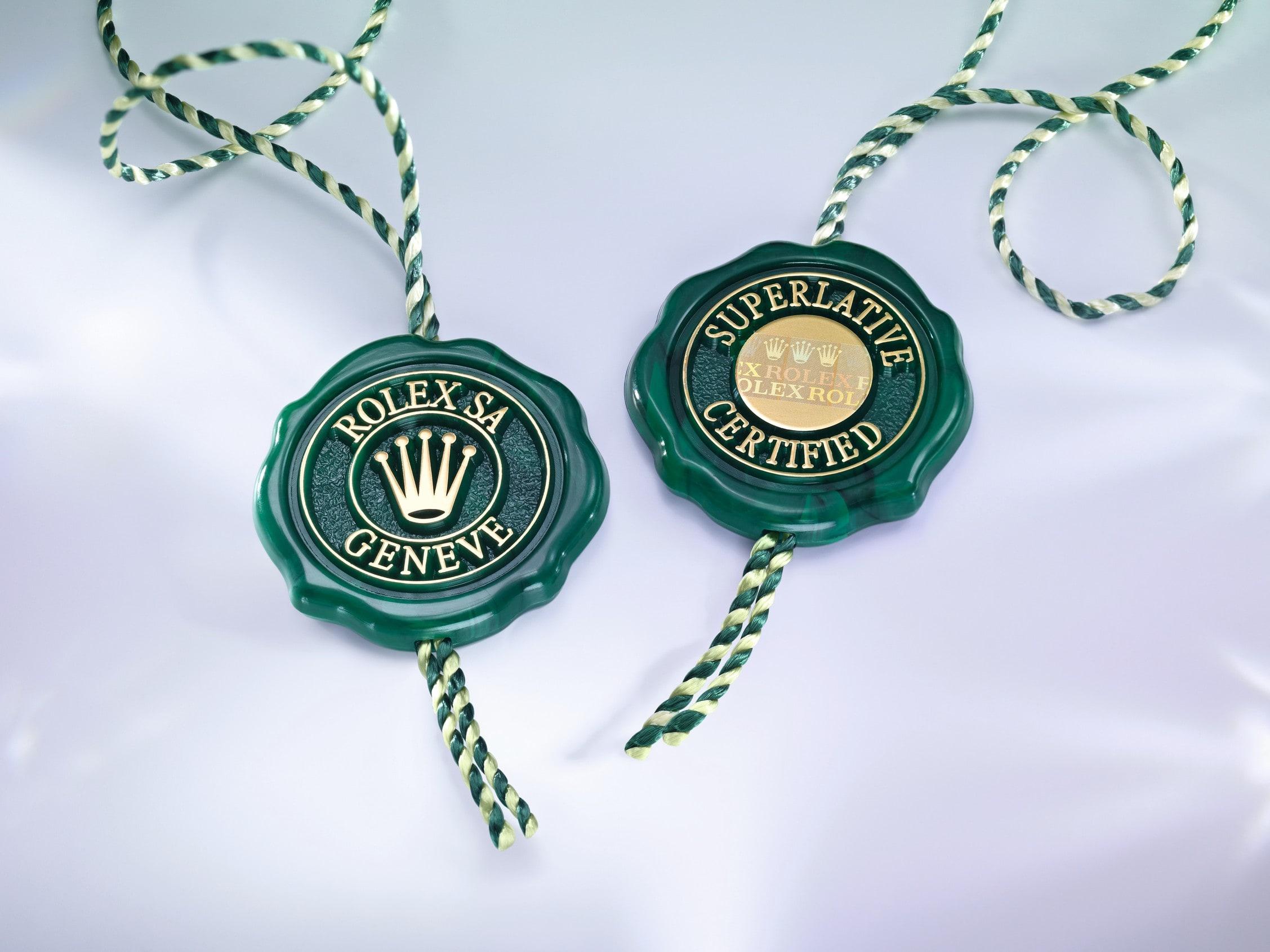 Rolex certified label
