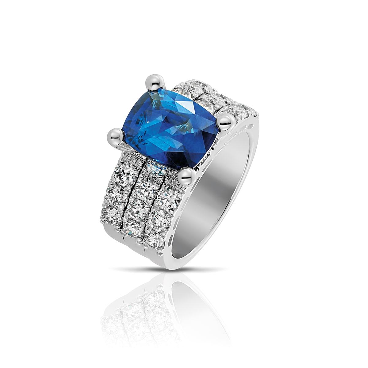 Ring blauwe saffier