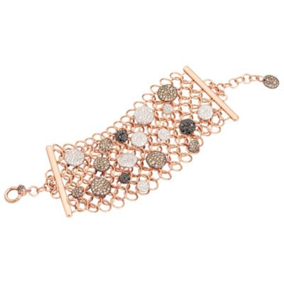 Armband Sabbia rose goud met diamant
