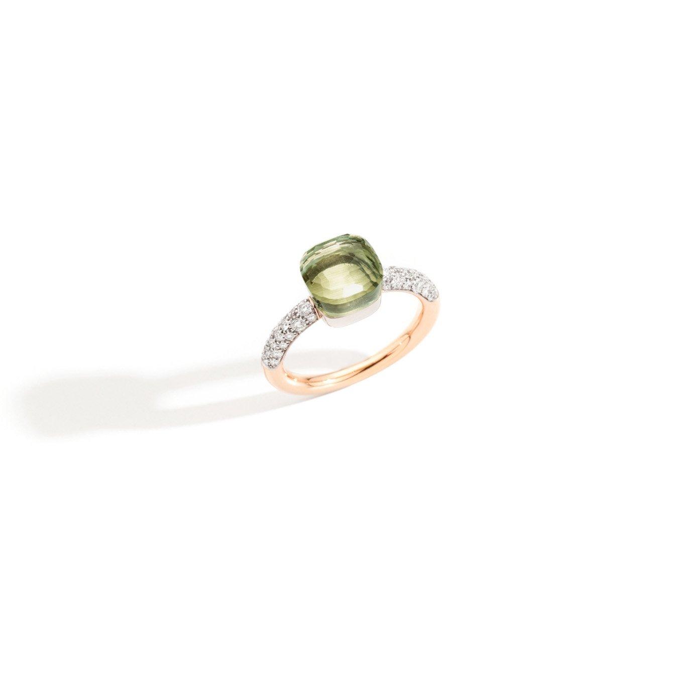 Ring nudo prasioliet